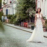 Robe de mariée-dos nu en dentelle
