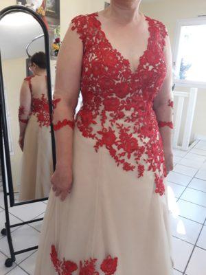 Luiza couture -robe de mariée rouge (2)